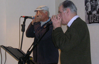 Sonny Rolfe and Derek Yorke, harmonica players