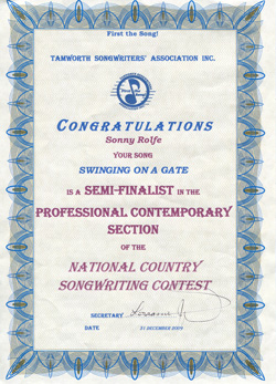 image of Tamworth award