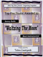 image of big note 2002 top 5 finalist certificate
