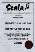 image of 2006 scala certificate