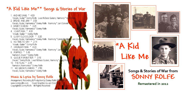 CD artwork for A Kid Like Me by Sonny rolfe