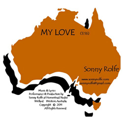 image of single titled: my love, by sonny rolfe